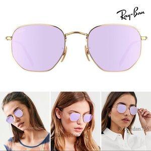 Ray-Ban Hexagonal Lilac Mirror Lens RB3548N